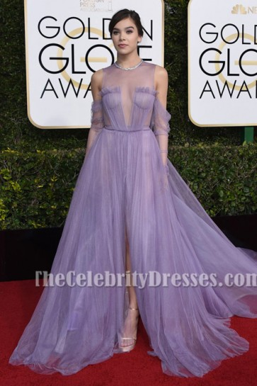 Hailee Steinfeld Lilac Tulle Formal Dress 74th Annual Golden Globe Awards Red Carpet Gown TCD7107
