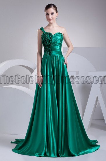 Hunter One Shoulder A-Line Prom Gown Evening Dress