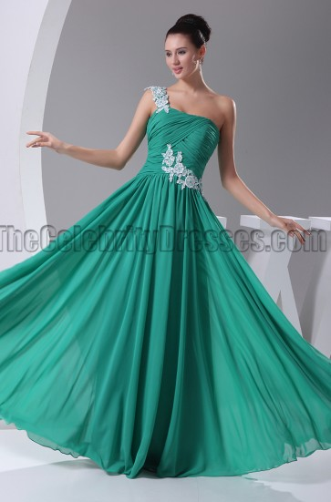Hunter One Shoulder Embroidery Bridesmaid Prom Dresses