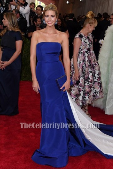 Ivanka Trump Royal Blue Formal Dress MET Gala 2015 Red Carpet TCD6468
