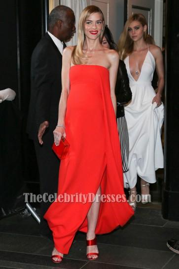 Jaime King Strapless Formal Dress MET Gala 2015 Evening Gown TCD6367