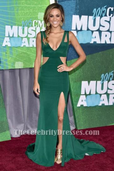 Jana Kramer Cut Out Evening Dress 2015 CMT Music Awards Red Carpet Gown TCD6303