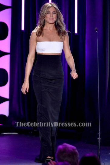 Jennifer Aniston White And Black Evening Dress 29th American Cinematheque Award TCD6382