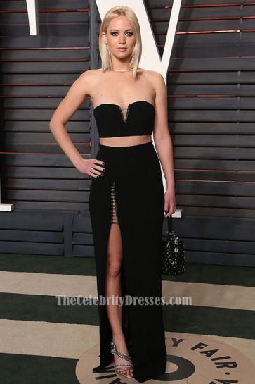 Jennifer Lawrence 2016 Oscar Two Piece Dress Celebrity Red Carpet Dresses TCD6566
