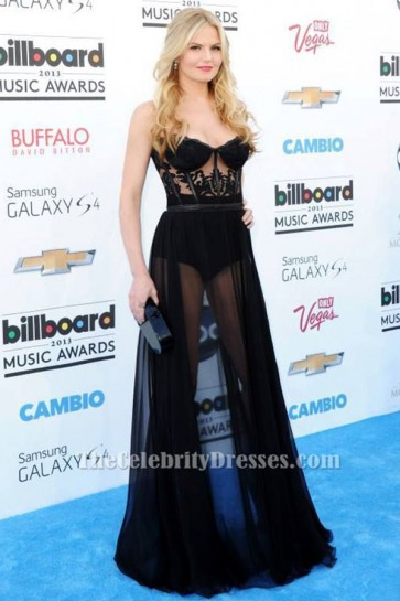 Jennifer Morrison Black See Through Dress Billboard Music Awards 2013 TCD6474