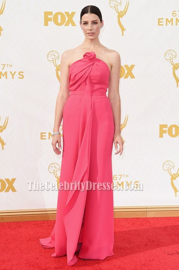 Jessica Paré Strapless Formal Dress Evening Gown Emmys 2015 TCD6342
