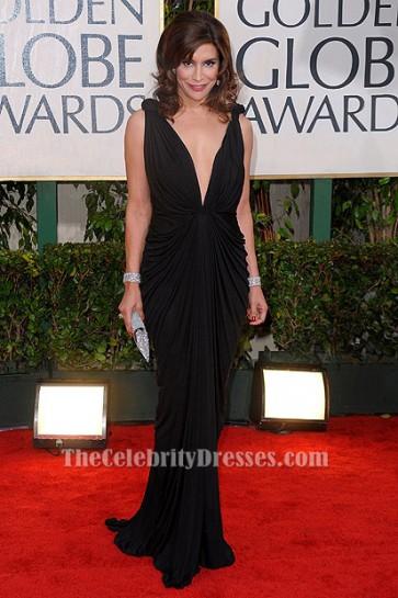 Jo Champa Sexy Black Evening Dress 67th Annual Golden Globe Awards TCD6213