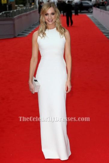 Joanne Froggatt Backless White Prom Dress BAFTA celebrate 'Downton Abbey' TCD6488
