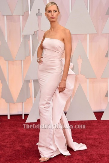 Karolina Kurkova Pink Strapless Formal Dress 2015 Oscars Red Carpet TCD6306