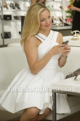 Kate Hudson White Criss Cross Party Dress Something Borrowed ...