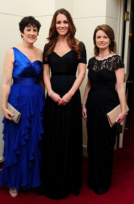 Kate Middleton Dark Navy Prom Dress 100 Women in Hedge Funds Gala Dinner