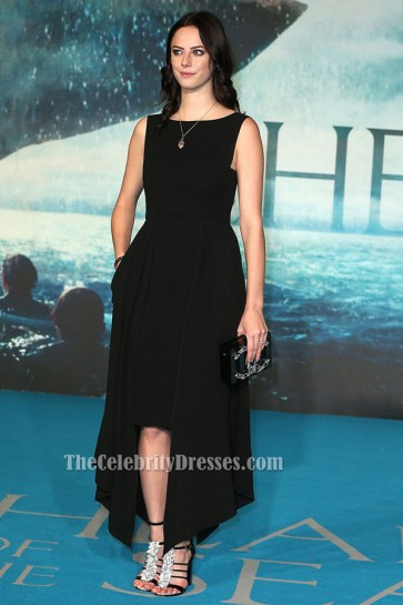 Kaya Scodelario Black Prom Dress 'In The Heart Of The Sea' London Premiere TCD6457