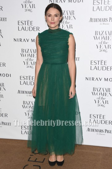 Keira Knightley Sleeveless Evening Party Dress Harper's Bazaar Women Of The Year Awards TCD6945