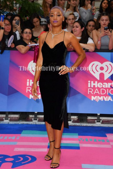 Keke Palmer Black Party Dress 2017 iHeartRadio MuchMusic Video Awards TCD7290