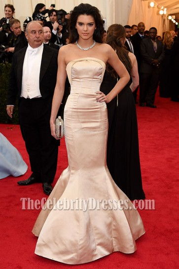 Kendall Jenner Mermaid Evening Dress 2014 Met Ball Red Carpet