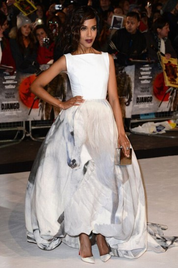 Kerry Washington A-Line Formal Dress Django Unchained London premiere TCD6393