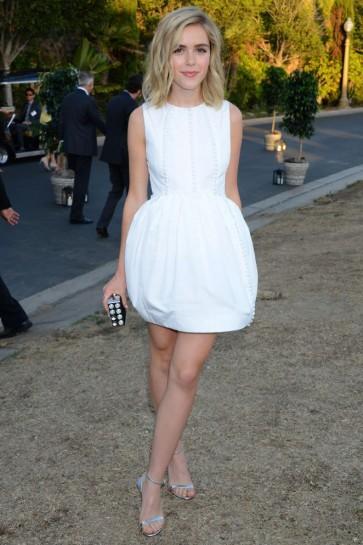 Kiernan Shipka Short White Party Dress 8th Annual Oceana SeaChange Summer Party TCD6249