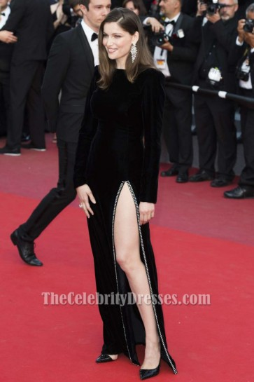 Laetitia Casta Black Gown  'The Meyerowitz Stories' Premiere at 70th Cannes Film Festival TCD7249