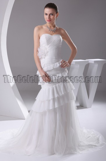 Gorgeous Mermaid Strapless Sweetheart Wedding Dresses