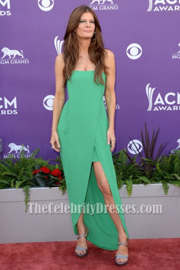 Michelle Stafford Green Formal Party Dress 48th Annual Academy of Country Music Awards TCD6151