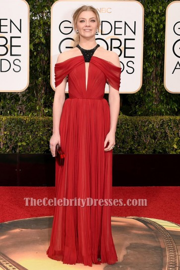 Natalie Dormer Off-the-Shoulder Formal Dress 73rd Annual Golden Globe Awards TCD6508