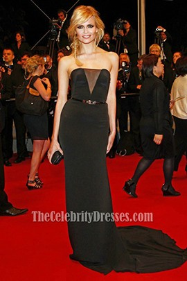 Natasha Poly Black Evening Dress Cannes Film Festival 2012 Red Carpet