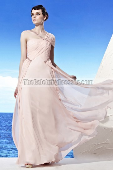 New Design Asymmetric Neckline Beaded Formal Prom Dresses