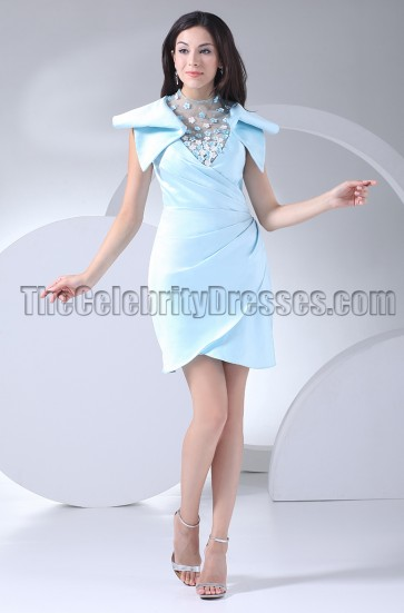New Style Blue Short Party Homecoming Dresses