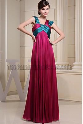 Celebrity Inspired Floor Length Prom Dress Evening Gown