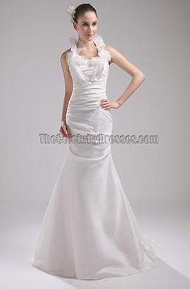 New Style Halter Trumpet Mermaid Wedding Dresses