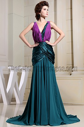 New Style Mermaid V-neck Evening Dress Prom Formal Dresses