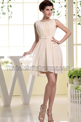 Sleeveless Short Chiffon Homecoming Dress Party Dresses