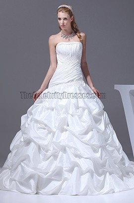 New Style Strapless Taffeta Ball Gown Wedding Dresses