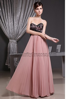 Sweetheart A-Line Lace Chiffon Prom Gown Evening Dress