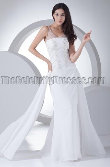 Sheath/Column Beaded Wedding Dresses