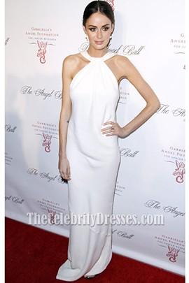 Nicole Trunfio White Prom Dress Angel Ball 2012 Red Carpet Celebrity Dresses