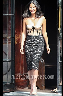 Olivia Munn Strapless Cocktail Dress Late Show With David Letterman