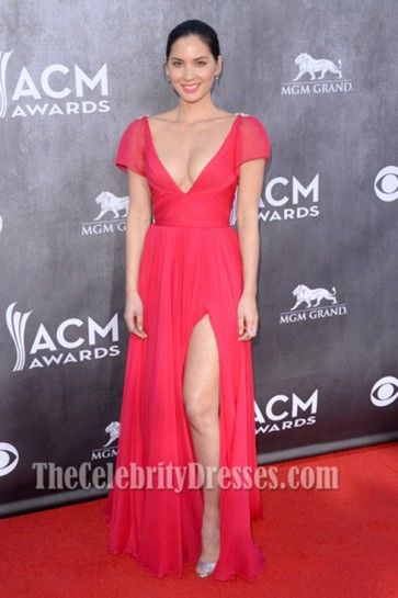 Olivia Munn Prom Dress 49th Annual Academy of Country Music Awards