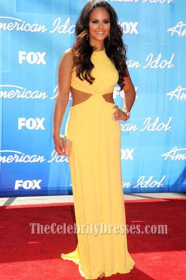 Pia Toscano Yellow Prom Dress American Idol Season 11 Grand Finale Show