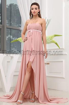 Pink Chiffon Strapless