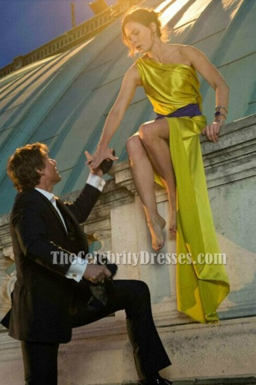 Rebecca Ferguson Sexy One Shoulder Evening Dress in Mission Impossible 5 TCD6183