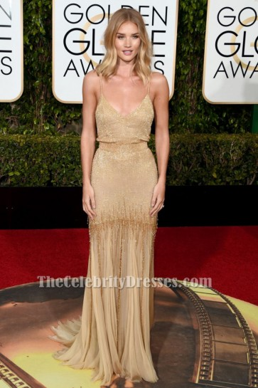 Rosie Huntington-Whiteley Backless Evening Dress 2016 Golden Globes Red Carpet TCD6560