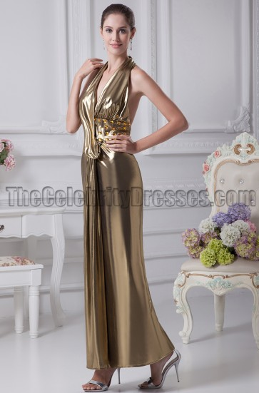 Sexy Halter Open Back Evening Dress Prom Gown