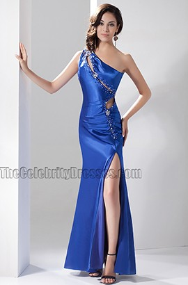 Sexy Royal Blue Cut Out One Shoulder Evening Dress Prom Gown