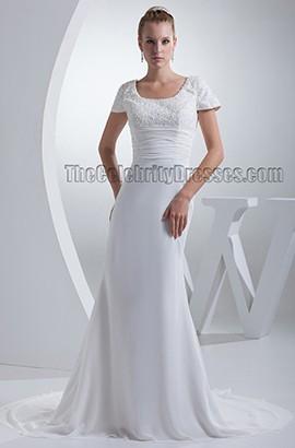 Sheath/Column Beaded Embroidery Chapel Train Wedding Dresses