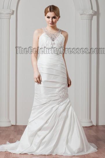 Sheath/Column Beaded Sweep Brush Train Wedding Dresses