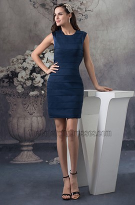 Sheath Column Dark Navy Short Party Homecoming Dresses