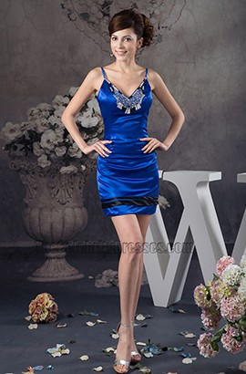Sheath/Column Royal Blue Party Homecoming Dresses