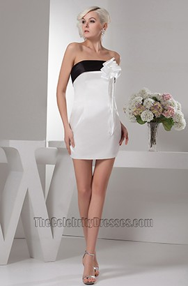 Chic Sheath/Column Strapless Party Cocktail Graduation Dresses