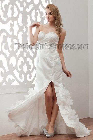 Sheath/Column Strapless Sweetheart Wedding Dresses